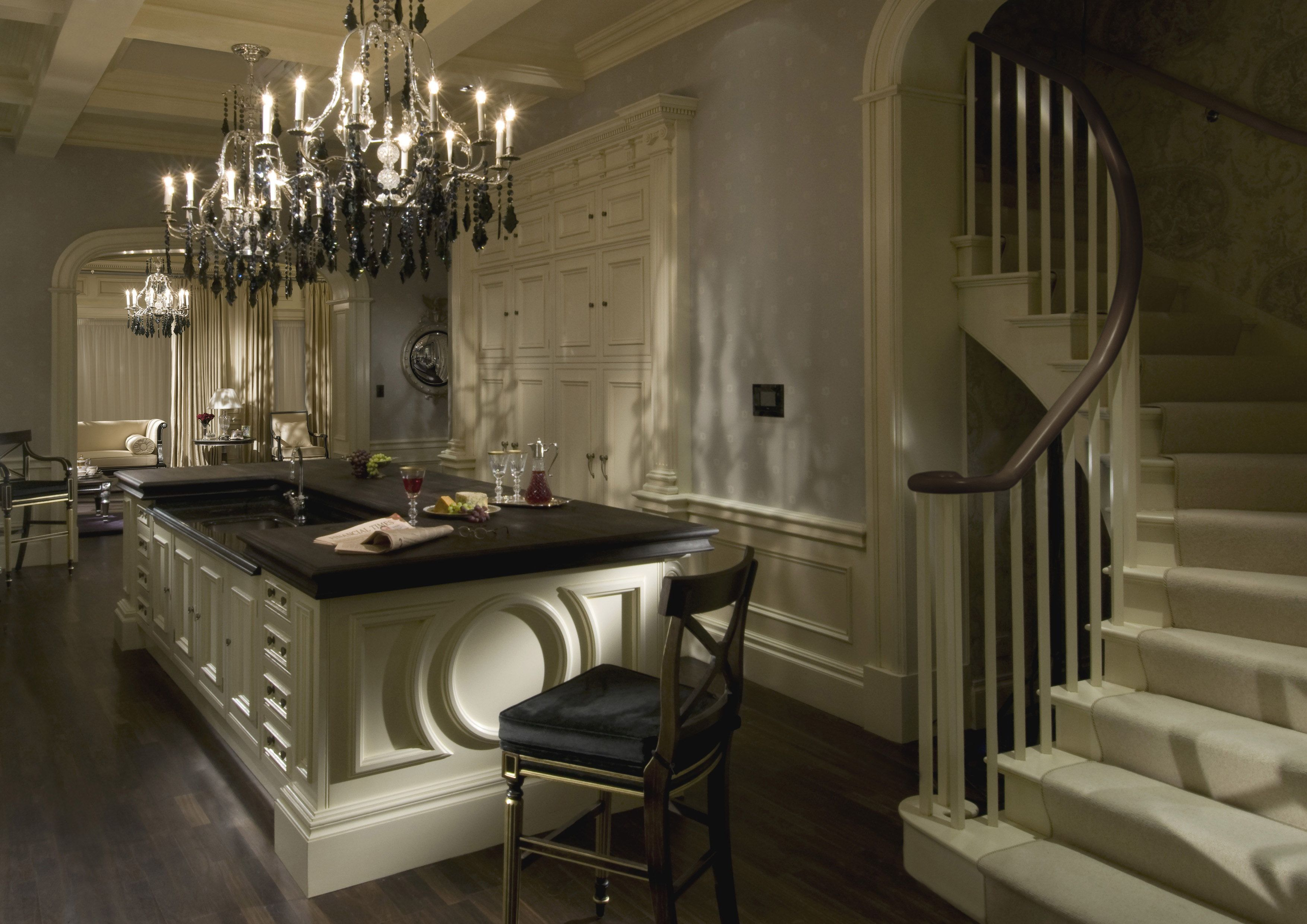 IVORY KITCHEN & LOUNGE Architectural kitchen in ivory with British ...