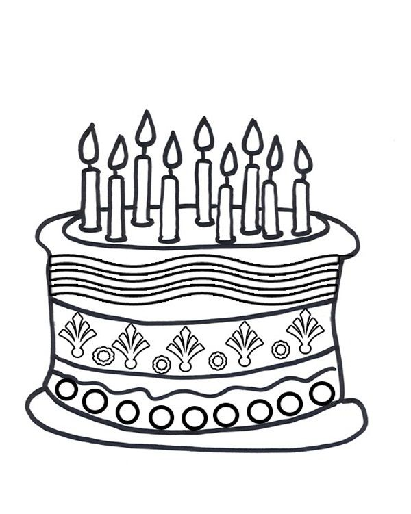 Birthday Cake Coloring Pages Birthday Coloring Pages Happy Birthday Coloring Pages Coloring Pages For Kids