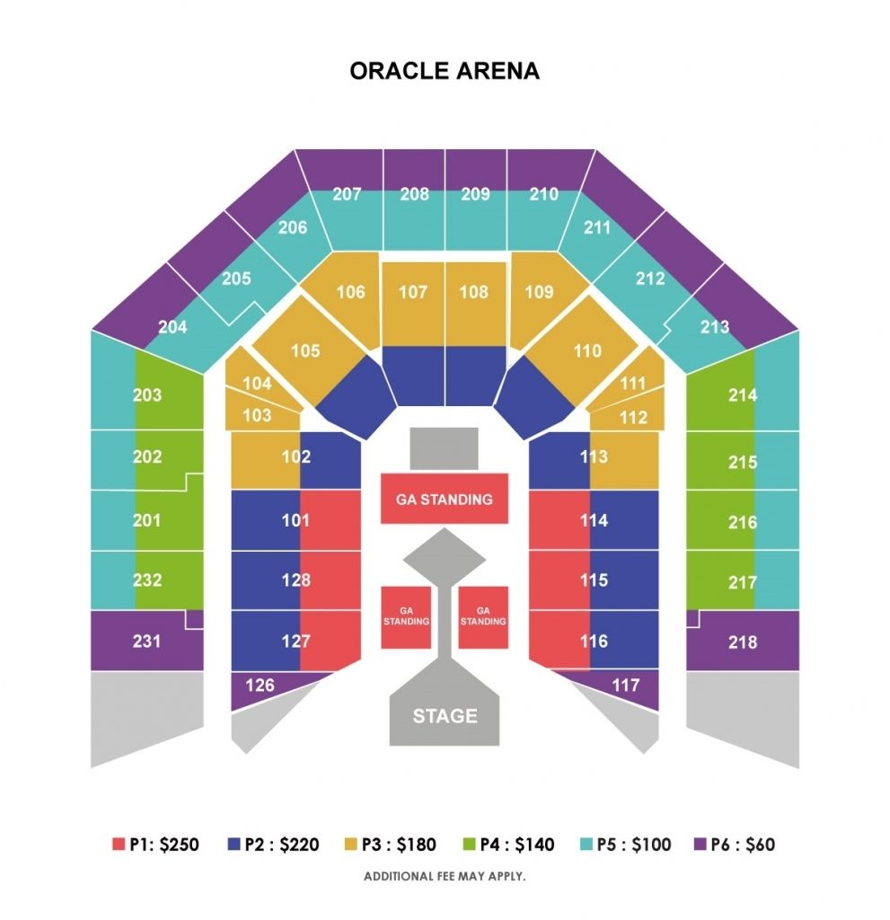 The Amazing Oakland Arena Seating Chart Di 2020 Konser