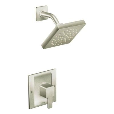 moen 90 degree 1 handle moentrol shower faucet trim kit in brushed