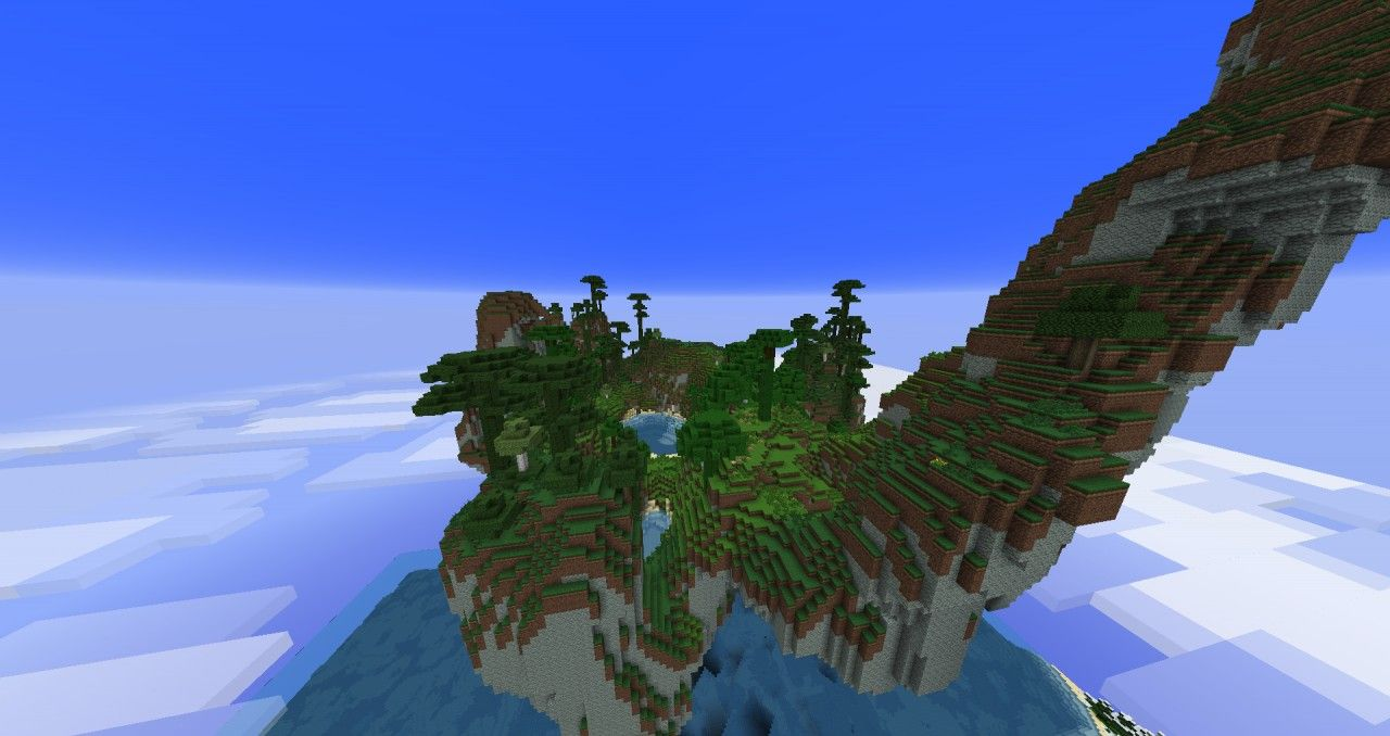 The Floating Island Minecraft Project Minecraft Projects