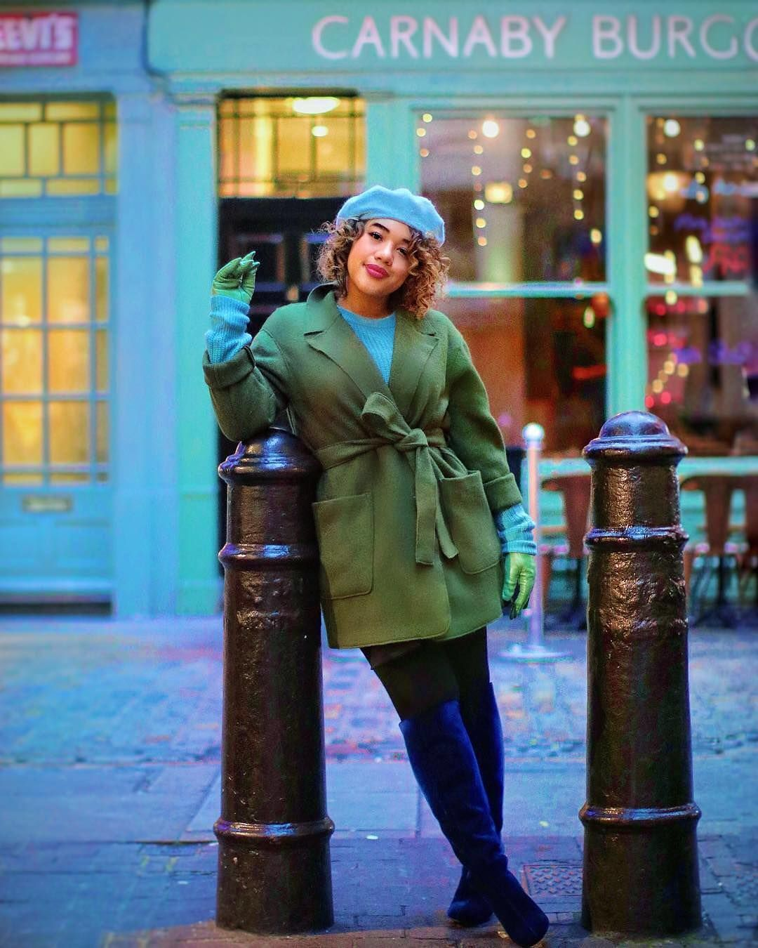 Try the #Pinterest100 trend: A major accessory on fall runways, the French fave Beret is très chic and great for day or night. Courtney, @colormecourtney, shows her take on styling this trend for winter.