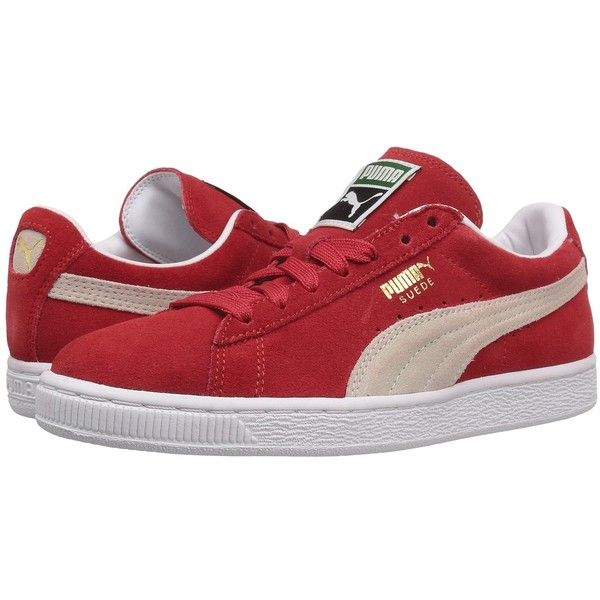 PUMA Suede Classic (High Risk Red/White) Women's Shoes ($65) ❤