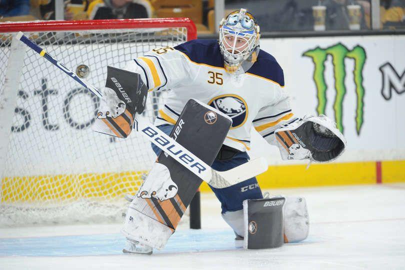 Boston Ma December 16 Linus Ullmark 35 Of The Buffalo Sabres