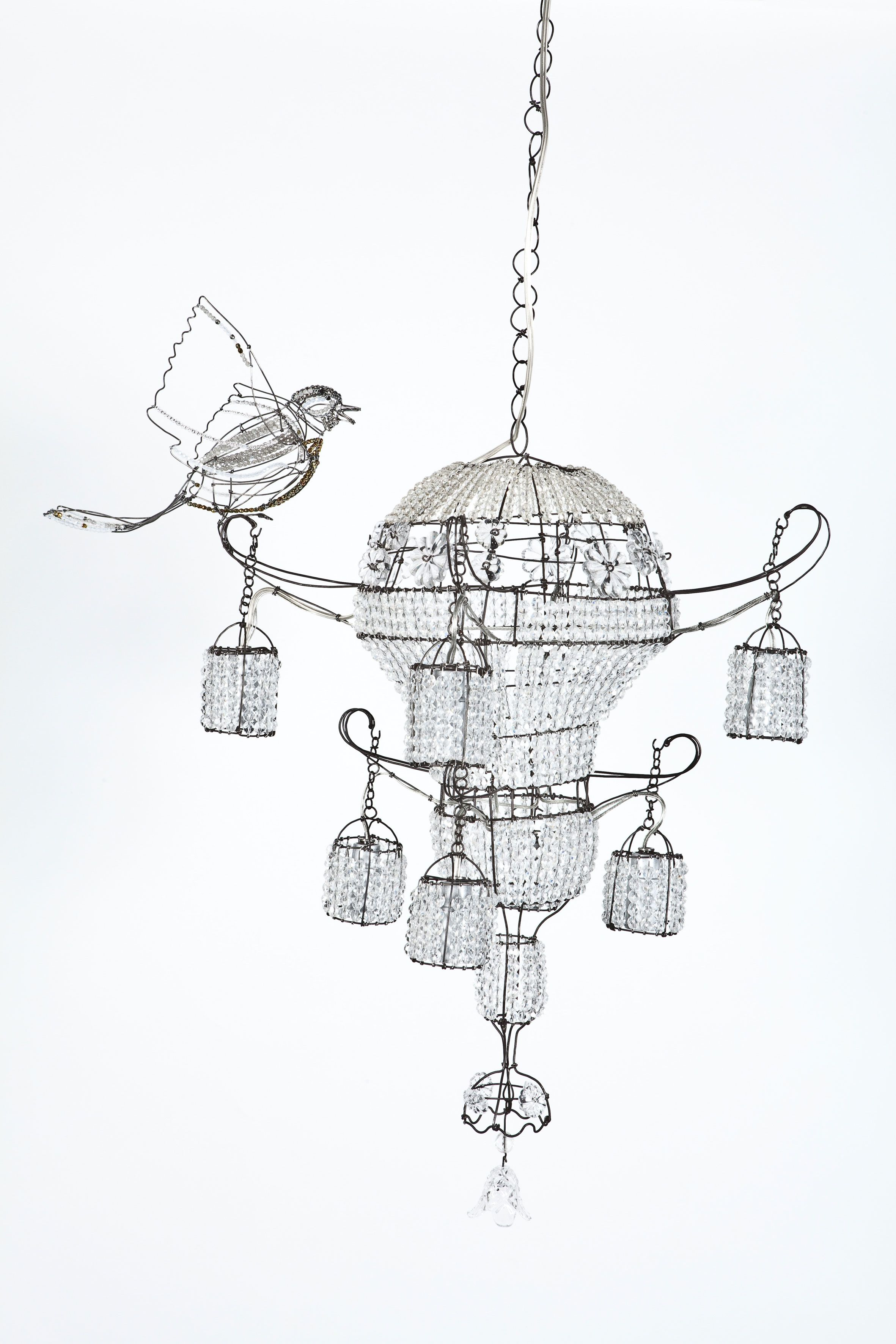 Lustre oiseau marie christophe sweet tweets pinterest wire today i am loving this bird chandelier lisa fontanarosa lustre oiseau by french sculptor marie christophe arubaitofo Image collections