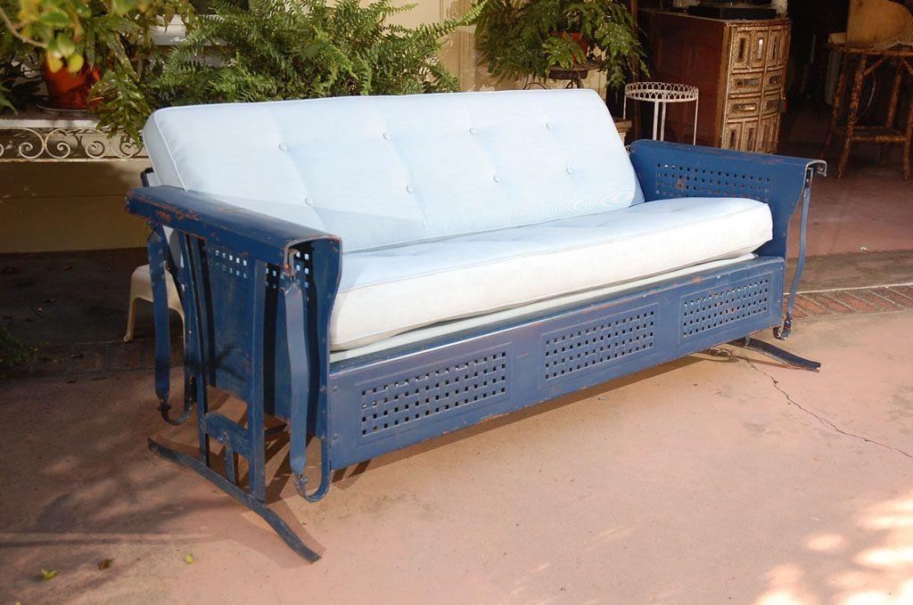 glider cushions metal patio furniture