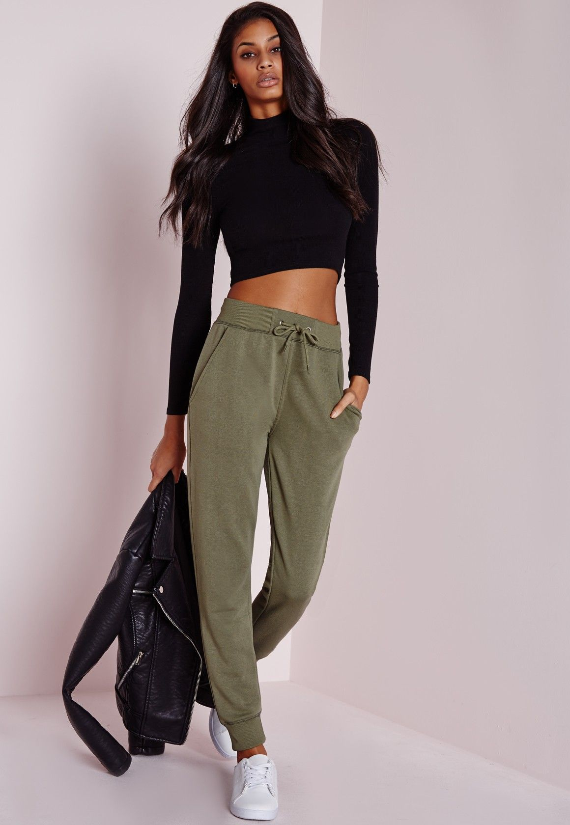 Missguided Tie Waist Joggers Cheap Classic Buy Cheap Perfect Hot Sale Cheap Online Clearance Visit New fegfPAy