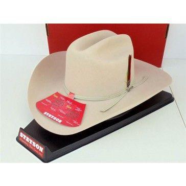 Stetson Cowboy Hat 4X Beaver Felt Merced Silverbelly  8238aafc40f2