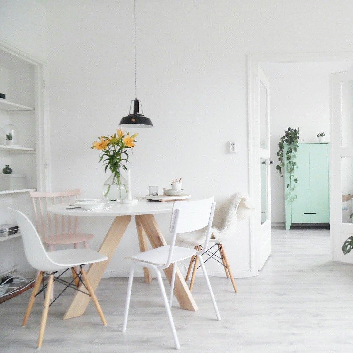 Ronde Eettafel Irena 120cm kleur wit in 2019  Huis