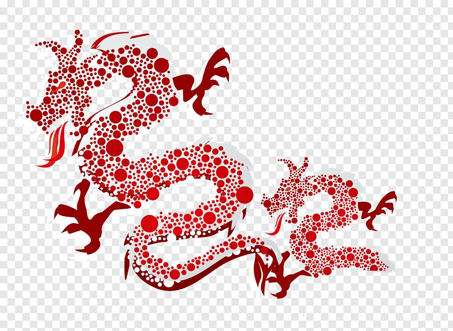 Chinese New Year Wish Chinese Calendar Happiness Red Dragon Pattern Background Materia Chinese New Year Wishes Chinese New Year Dragon Chinese New Year Monkey