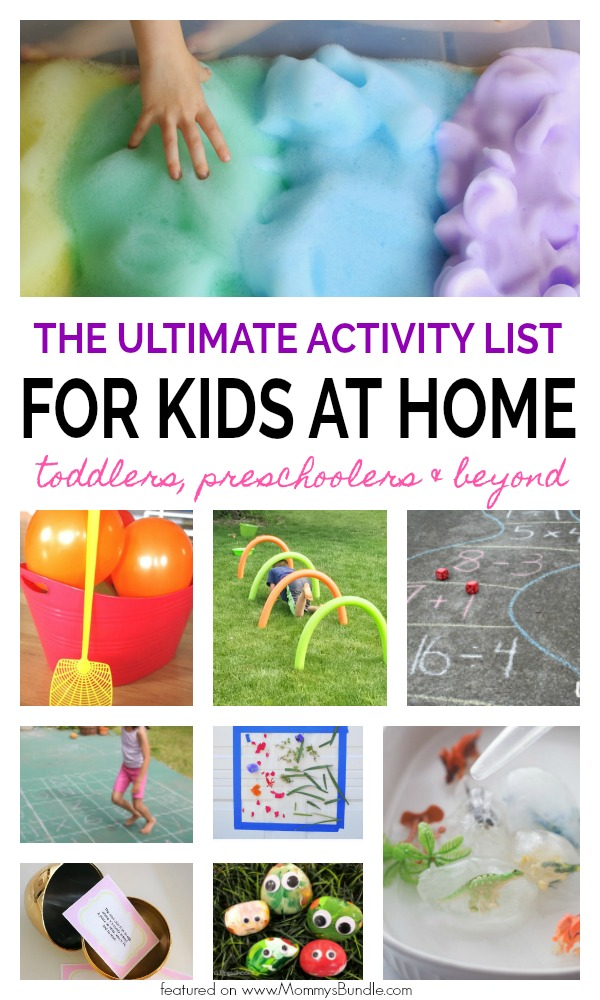 Photo of The Ultimate List of Indoor & Outdoors Activities for Kids at Home