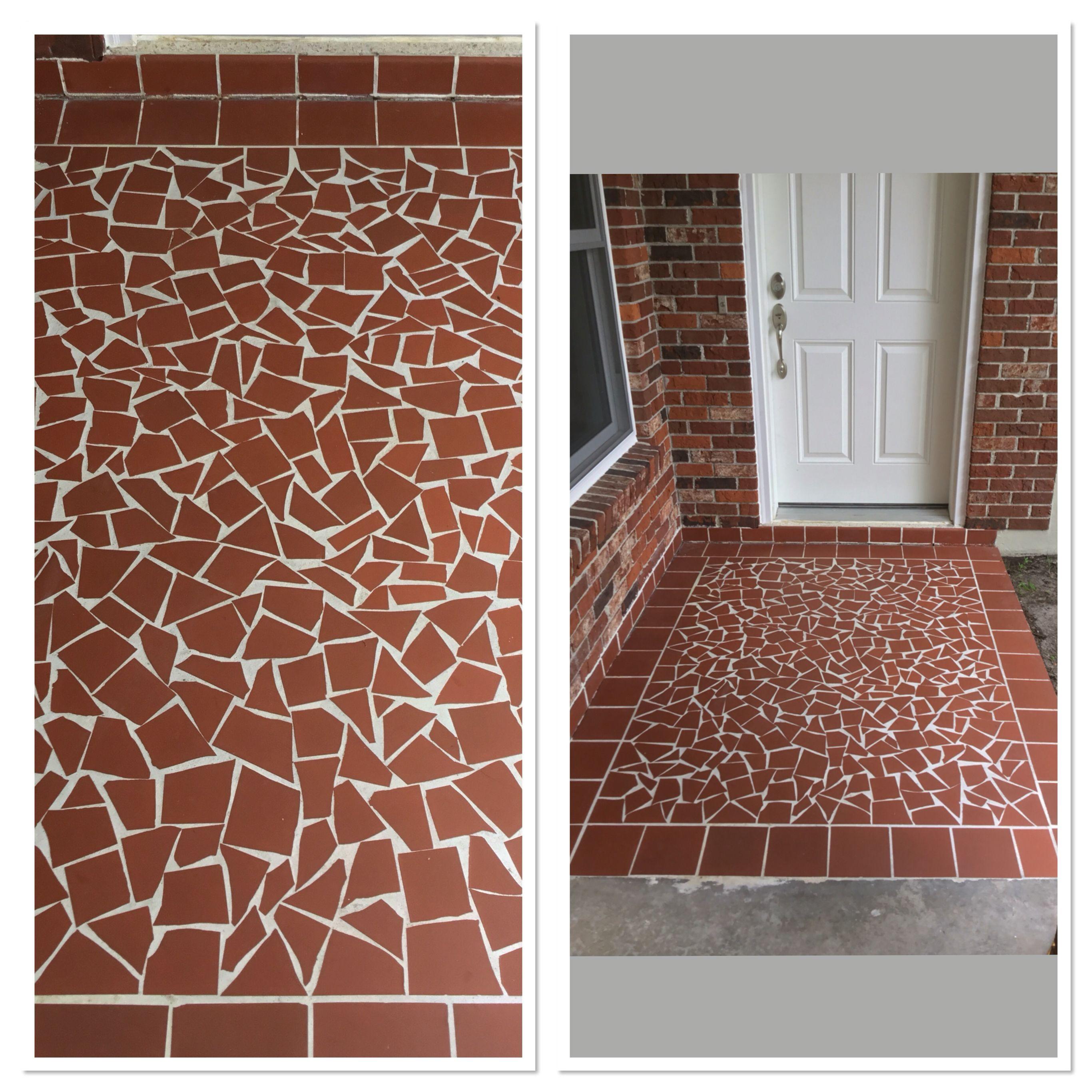 mosaic flooring tile floor porch tile