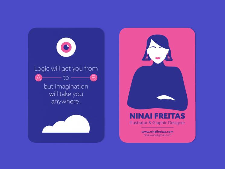 Ninai freitas created these business cards using adobe illustrator ninai freitas created these business cards using adobe illustrator for her self branding reheart Gallery