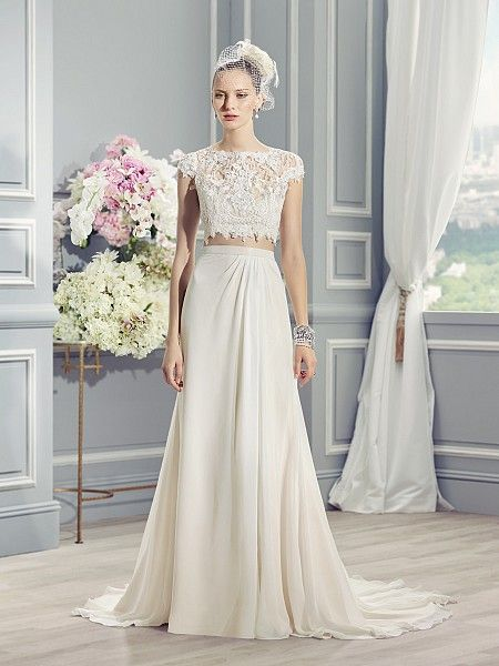 Two-piece wedding dress | Bauchfrei, Wedding dress und Hochzeitskleid
