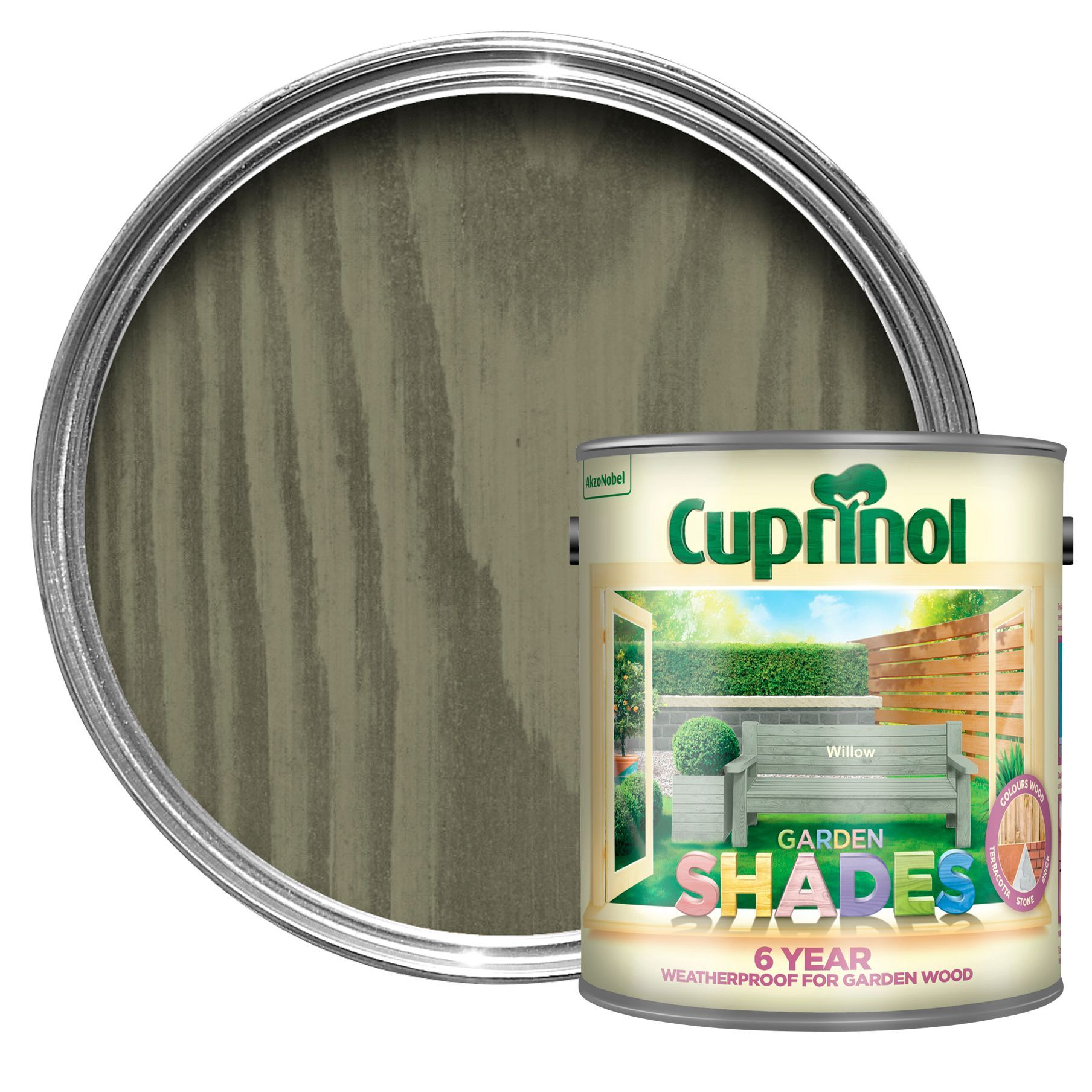 Cuprinol Garden Shades Willow Matt Wood Paint 2.5L