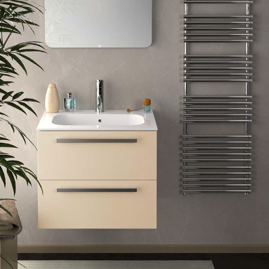 24 Inch Modern Wall Mounted Bathroom Vanity Sand Glossy