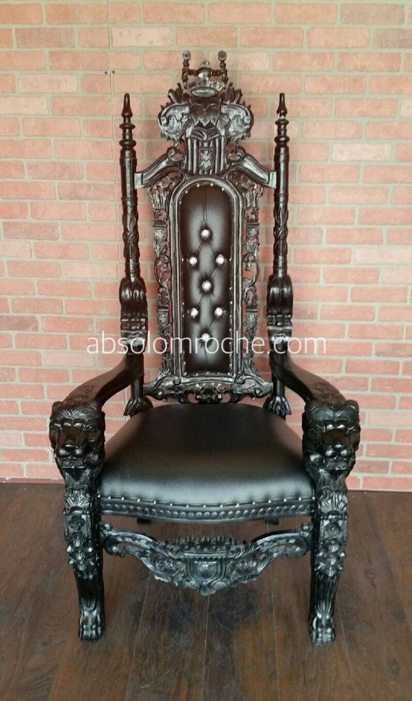 Clearance Lord Raffles Lion Throne Chair Gold Purple Throne Chair Rococo Chair Thrown Chair