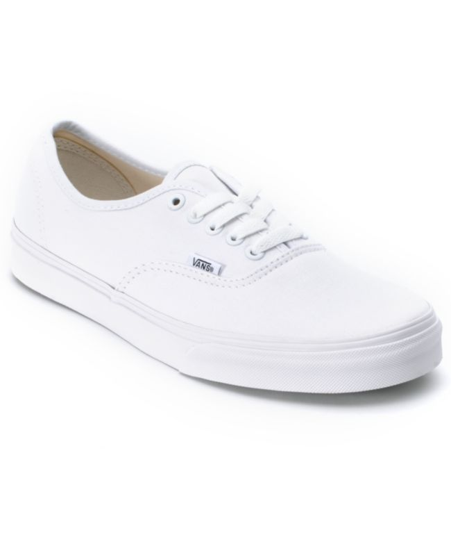2cb36ba453ea Vans Authentic White Canvas Skate Shoes