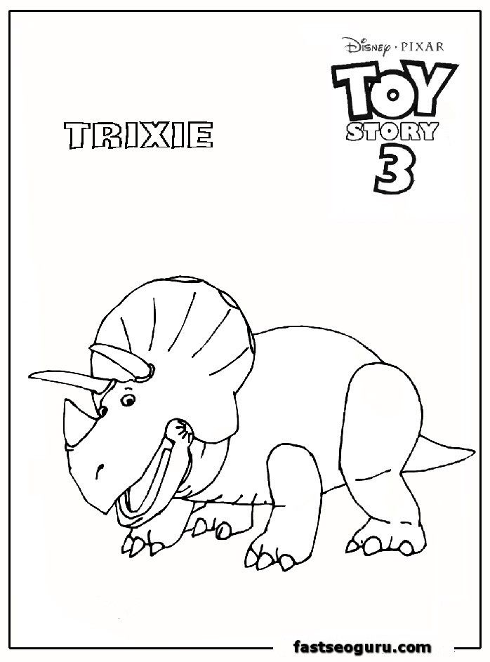 Toy Story 3 Trixie Coloring Page Coloring Pages Free Coloring Pages Colouring Pages