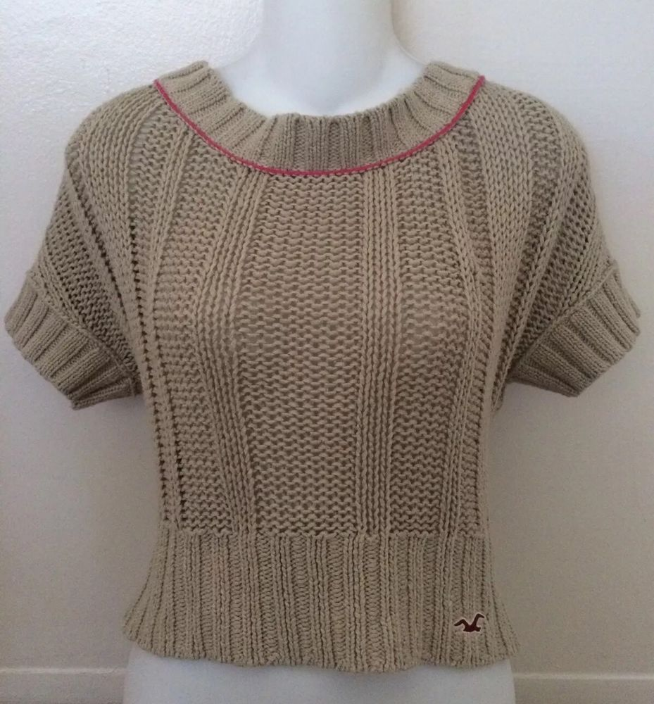 Hollister Juniors Womens s Cropped Sweater | eBay | EBAY ALL THE ...