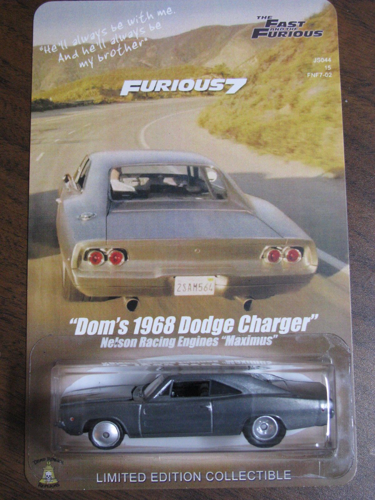 Fast furious 7 dom s metal 1968 dodge charger maximus paul walker tribute scene