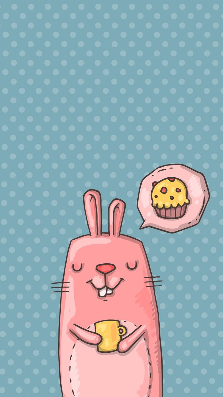 Tap And Get Free App Cute Pink Cartoon Bunny Dreaming About