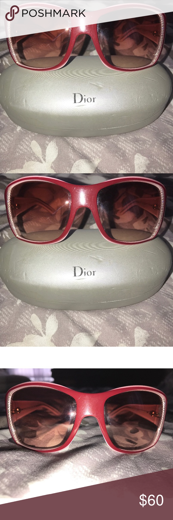 62bb6ecc23e ️SALE MAKE OFFER‼️Christian Dior Sunglasses ❗️SALE❗️Dior sunglasses 💯  authentic!!!!! Missing a few stones but could easily be replaced is someone  is ...