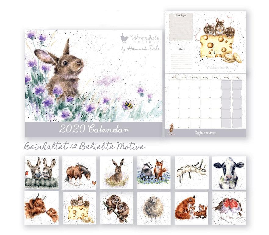 Wrendale Wandkalender 2020 Grosse A3 Seelenkuesse Shop Wandkalender Werbedesign Kalender