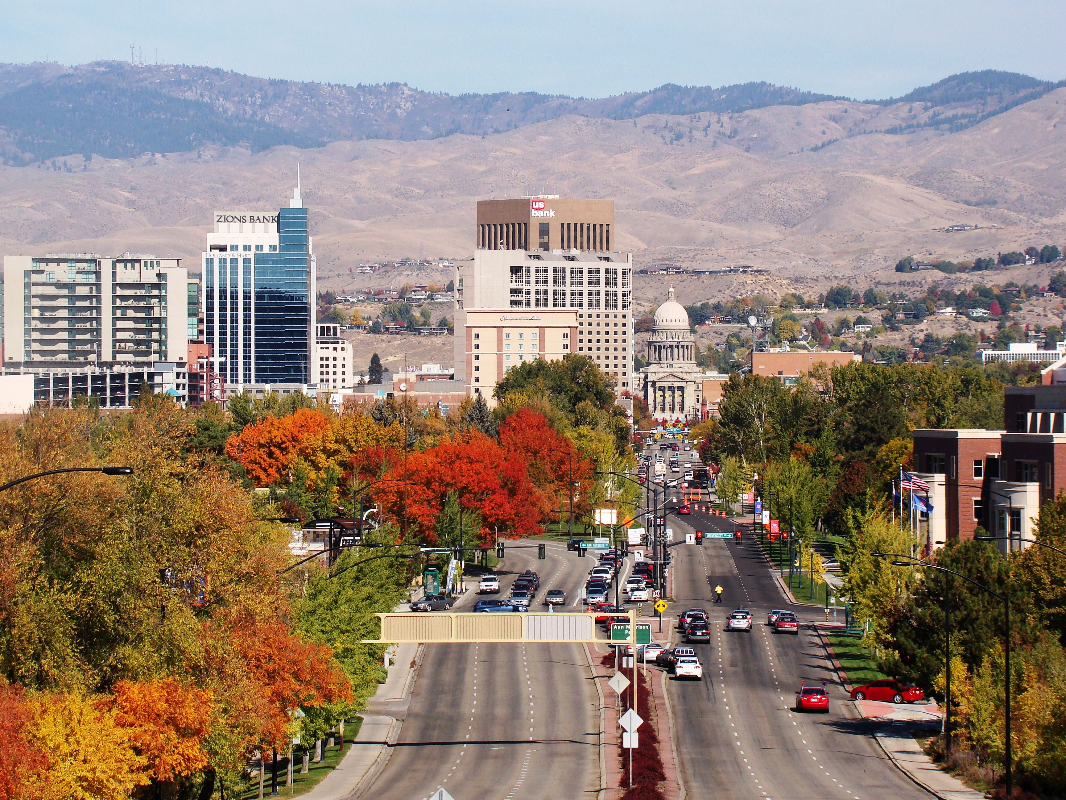 Capitol Of Boise, Idaho, As Seen From The Historic Boise