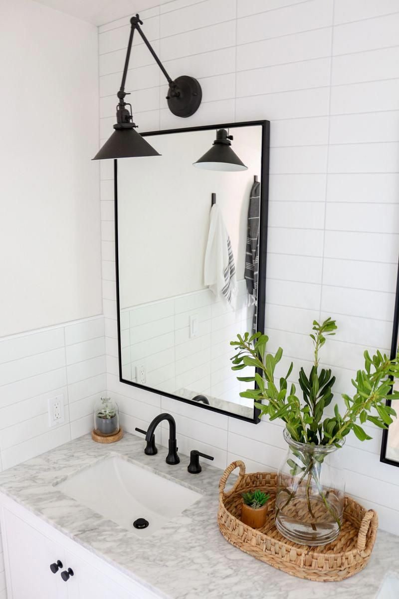 Photo of Modern farmhouse master bathroom renovation with Delta: The Process & Reveal – 1111 Light Lane
