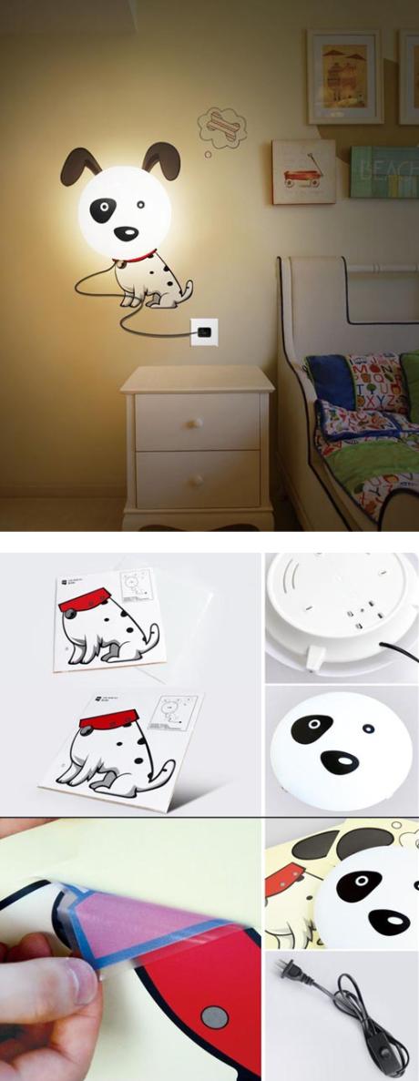 Cool gift ideas: wall sticker lamp