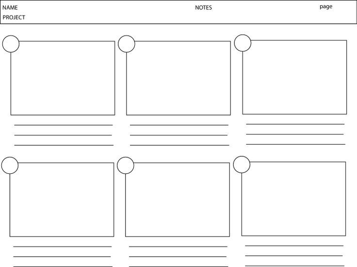 Media Storyboard Template Storyboard For Stop Motion Animation