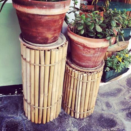 Set Da Giardino In Bamboo.Riciclo Creativo Utilizzare Canne Di Bambu Per Il Vostro Giardino