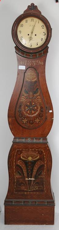 Norwegian Rosemaling Vintage Clock Grandmother Clock Grandfather Clock
