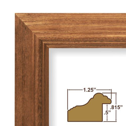 24x34 Picture Poster Frame Wood Grain Finish 125 Wide Rich Brown ...