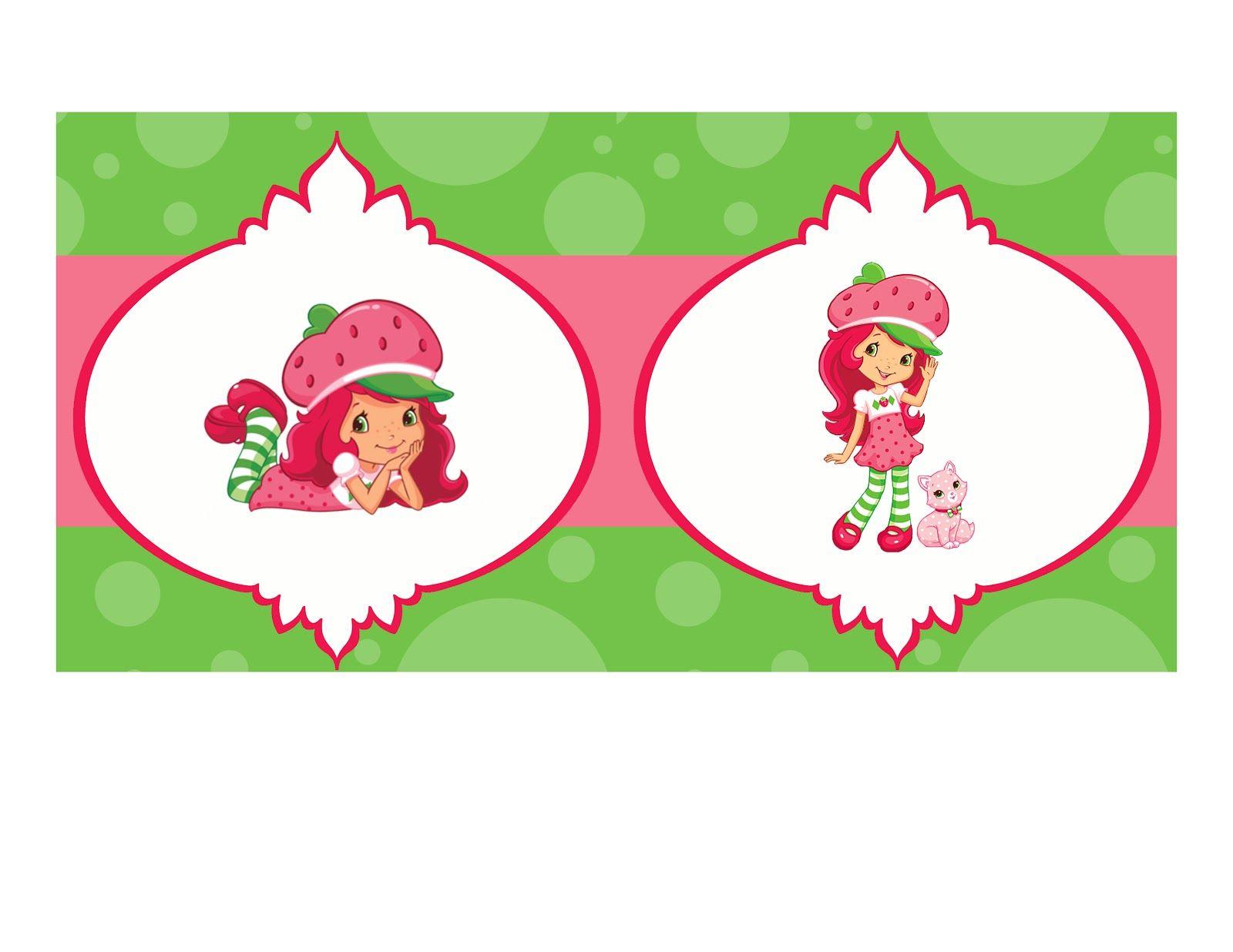 Strawberry Shortcake Free Printable Birthday Invitations
