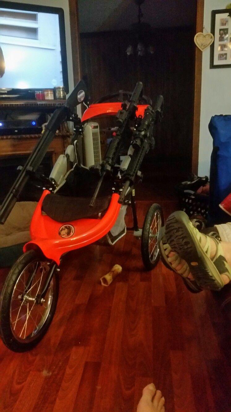 My 3gun cart Guns, Baby strollers, Gears