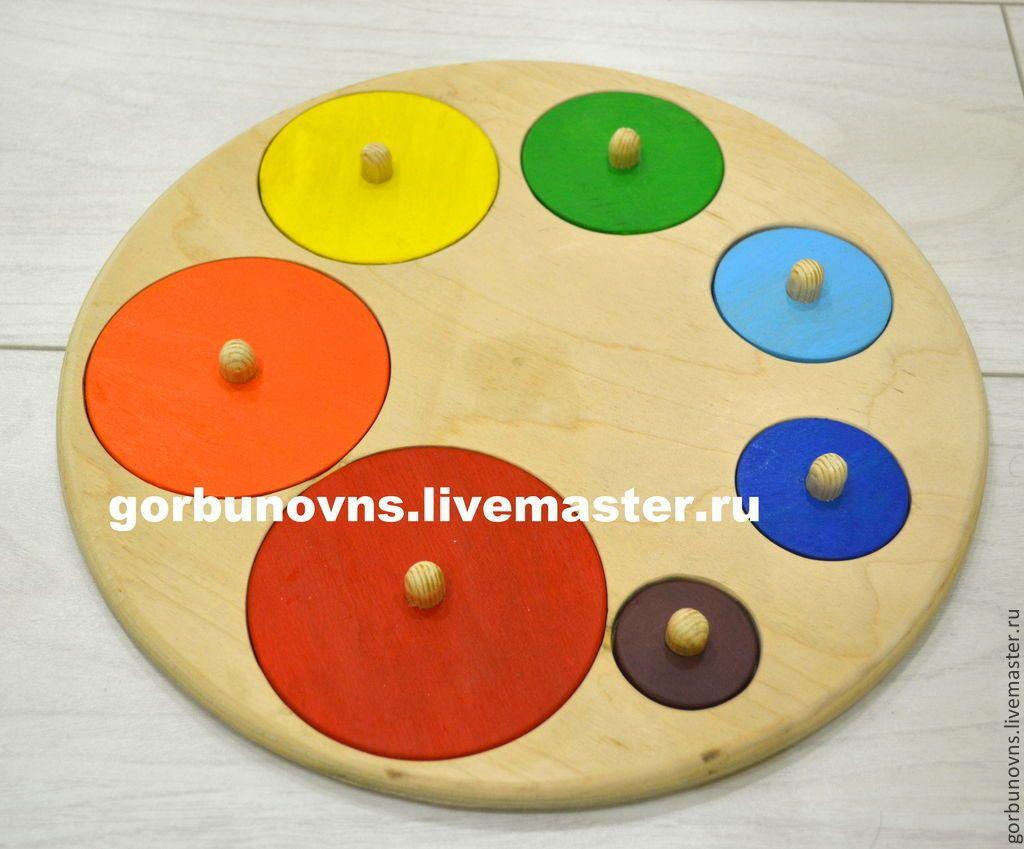 Educational Toys Palette Rainbow With Handles Montessori
