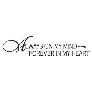 Always On My Mind Forever In My Heart By Gojojogo Tattoos