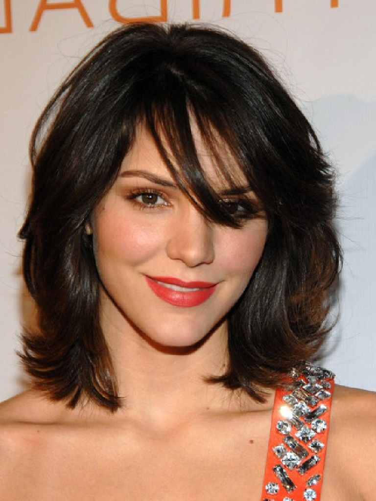 Cute, Medium Short Hairstyles: Katharine McPhee Hair