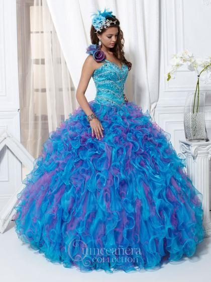 Vestidos de XV azul turqueza - Imagui