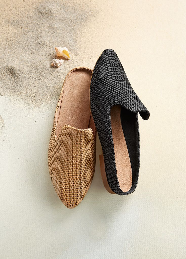 Alhambra Shoes - Moroccan-inspired shoes. Leather lined, basket woven uppers and soft, padded insoles.