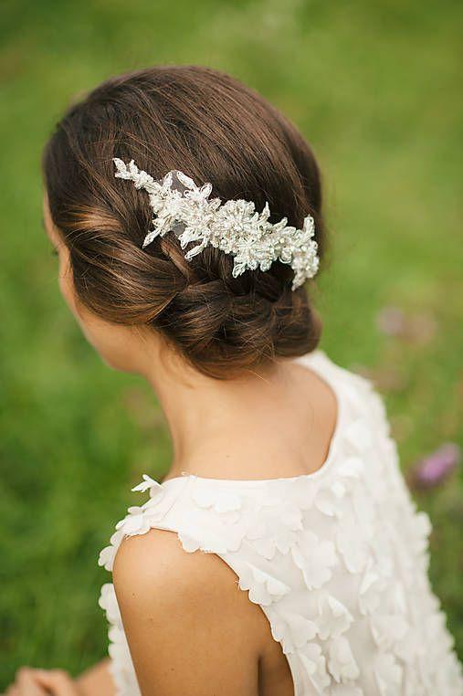 6b7d7a0e4 Čipka do vlasov, svadobná ozdoba do vlasov, svadobný hrebienok do vlasov
