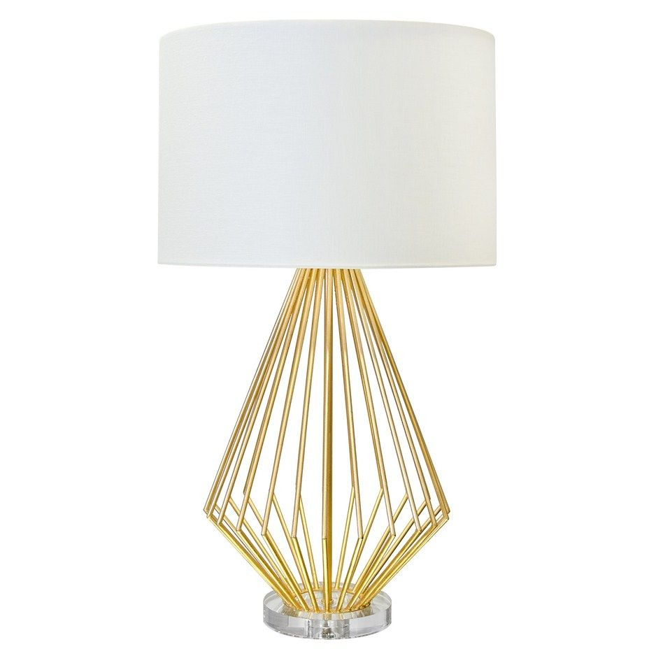 Worlds Away Lamps Truman Gold Leaf Cage Style Lamp