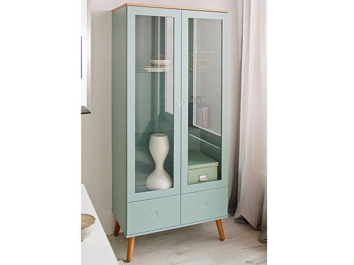 vitrine joan eiche gr n 79cm eiche gr n livingruhm gr ne m bel pinterest living rooms. Black Bedroom Furniture Sets. Home Design Ideas