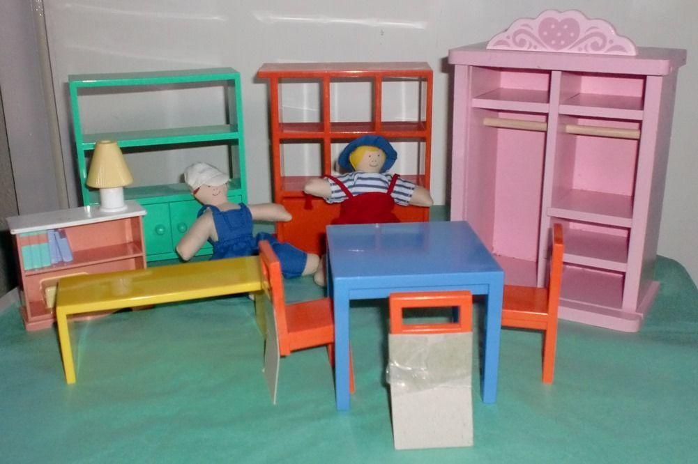 ikea dolls house furniture assortment plus 2 dolls ikea. Black Bedroom Furniture Sets. Home Design Ideas