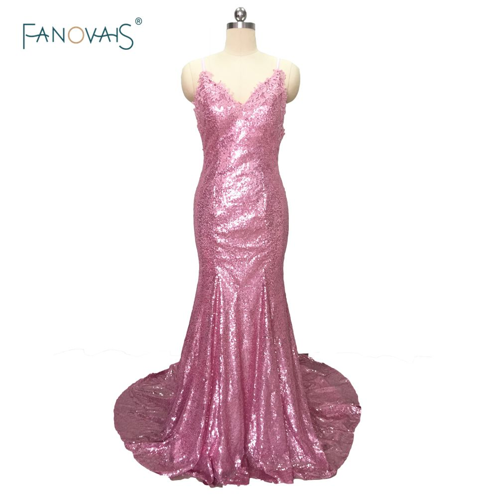 Click to buy ucuc sexy pink vneck lace appliques bodice floor length