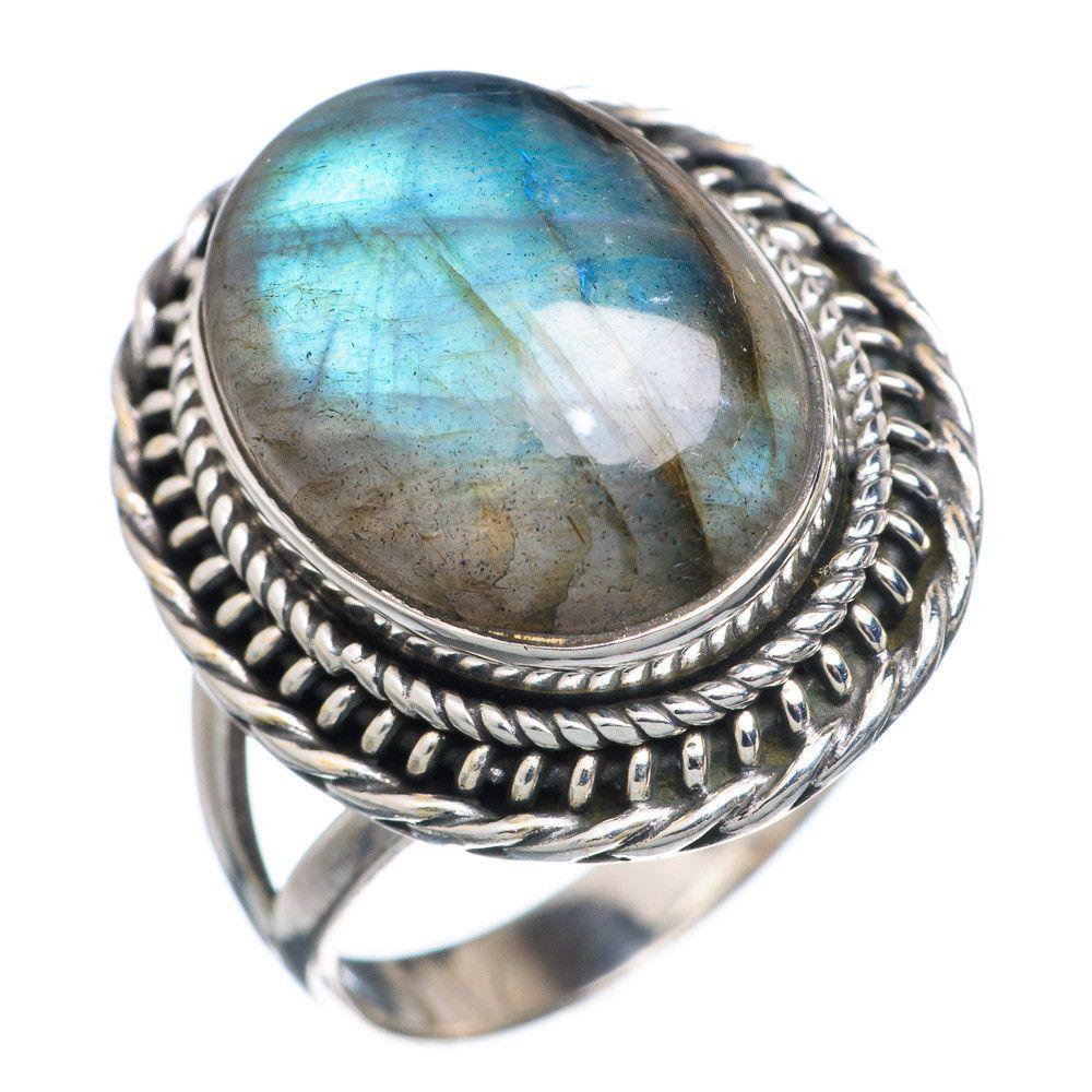 Labradorite 925 Sterling Silver Ring Size 8.75 RING695018