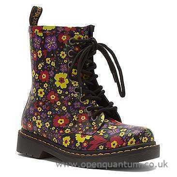 Low Pricing Women Dr. Martens Boots Boot Black Garden Vulcanised Rubber Mid-Calf Drench 8-Eye