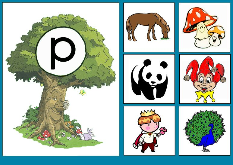 * Sprookjesboom: Letterkaart P